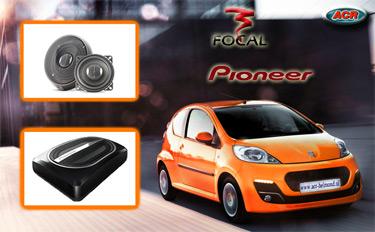 Peugeot 107 Audio Upgrade Soundsystem 1