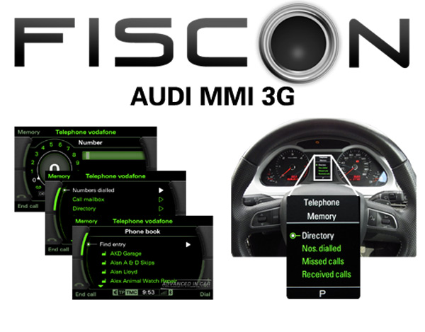 fiscon bluetooth carkit pro audi mmi 3g acr reijnders. Black Bedroom Furniture Sets. Home Design Ideas