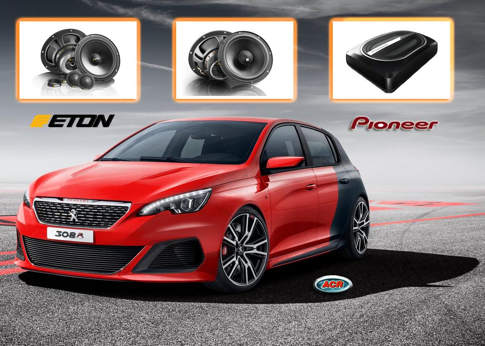 Peugeot 308 audio set upgrade luidsprekers speakers