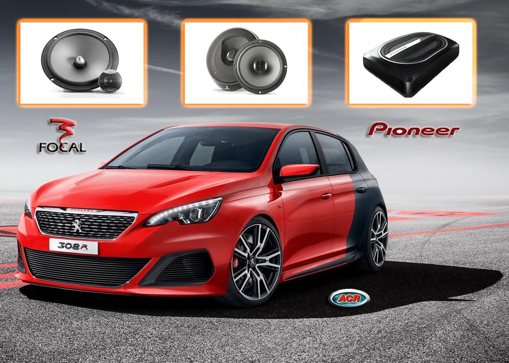 Peugeot 308 audio upgrade stereo installatie