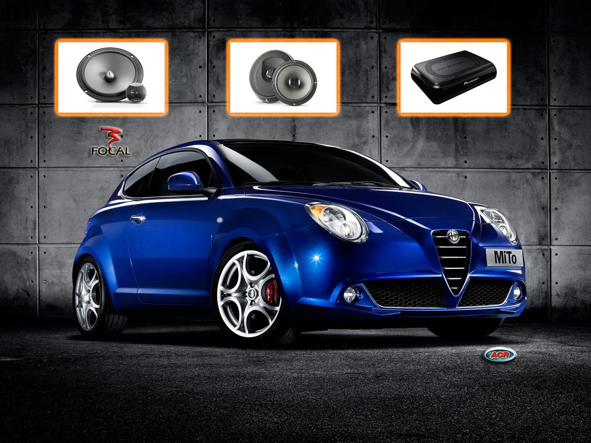 Alfa Mito Audio Upgrade speakers sound geluid set luidsprekers