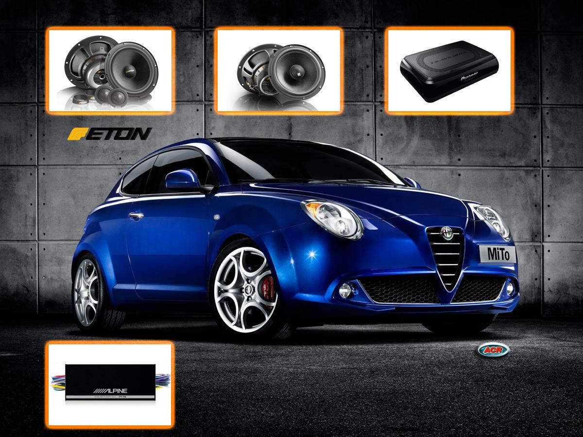 Alfa Romeo Mito audio upgrade geluid verbeteren vervangen speakers