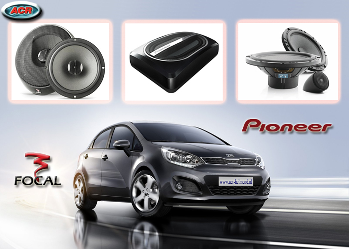 Kia New Rio Audio Upgrade set pakket sound speakers
