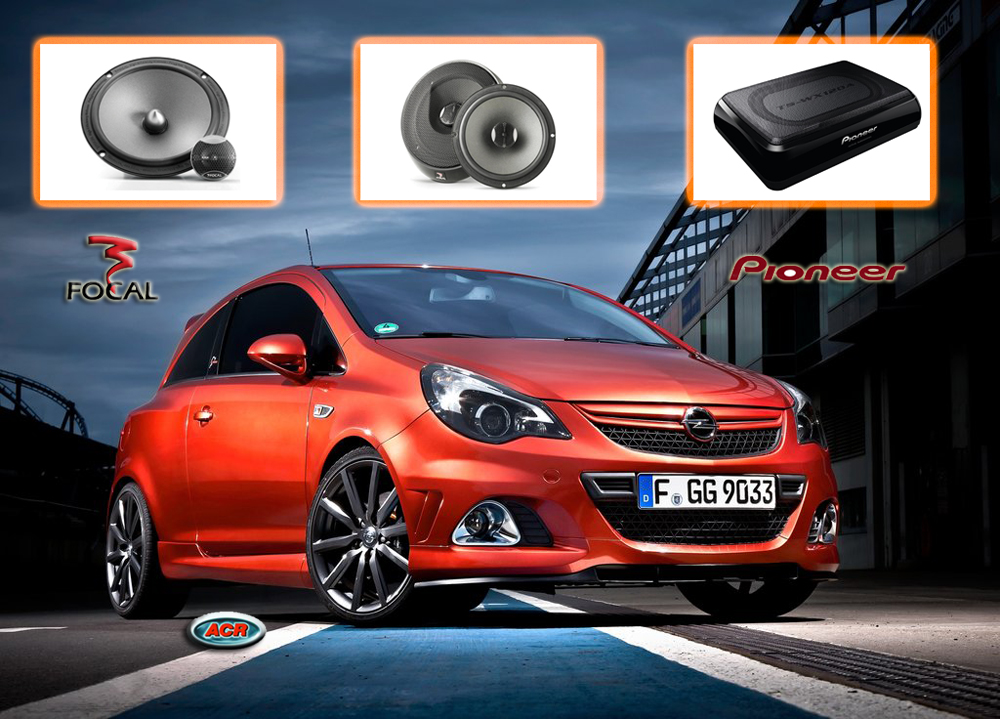 Opel Corsa D audio upgrade speakers set geluid sound set