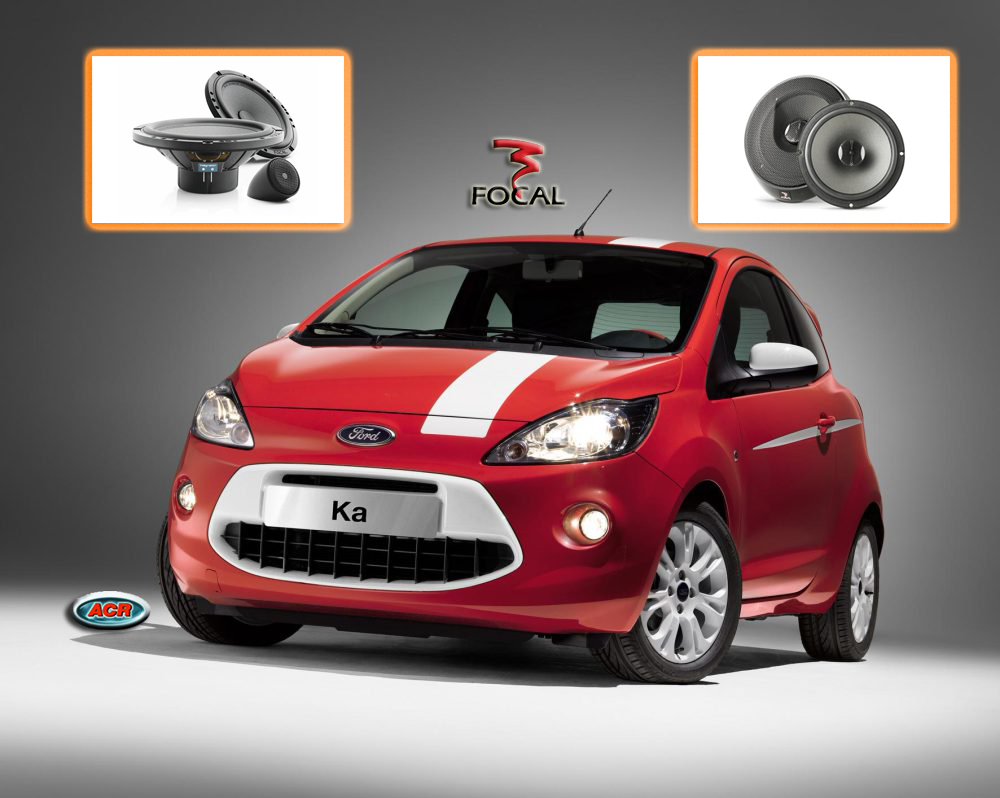 Ford Ka 2010 audio upgrade speaker geluid sound pakket set installatie