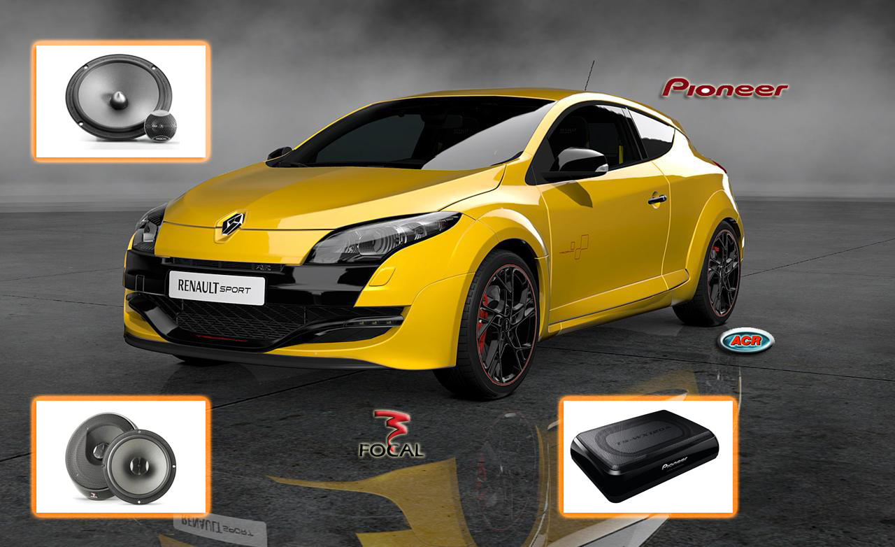 Renault Megane 3 audio set upgrade speakers hifi sound installatie