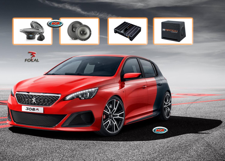 Peugeot 308 Audio Upgrade Luidsprekers vervangen verbeteren geluid installatie hifi sound muziek set