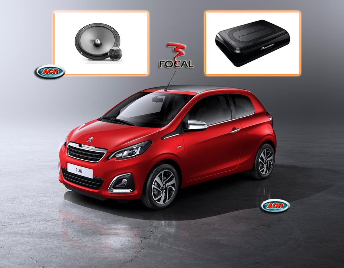 Peugeot 108 Audio Upgrade Luidsprekers vervangen verbeteren geluid installatie hifi sound muziek set
