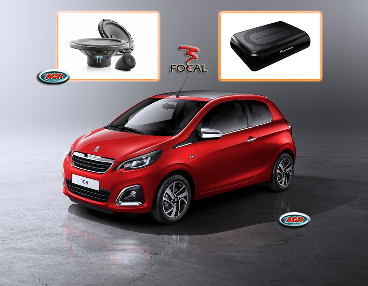 Peugeot 108 Audio Upgrade Speakers vervangen verbeteren geluid installatie hifi sound muziek