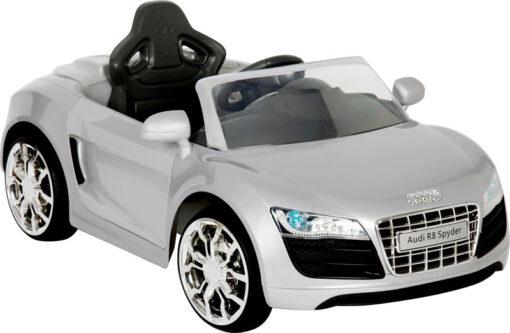 Audi R8 Zilver Electrische auto accu kinderen voertuig