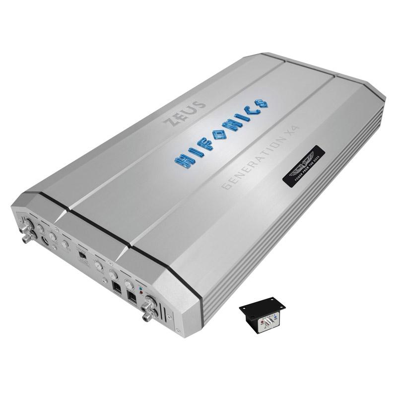 Hifonics X4 Zeus caraudio versterker auto hifi inbouw installatie