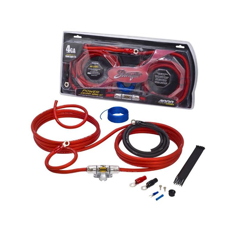 Stinger Electronics SK4241 power kabelset caraudio auto voedingskabel versterker kabel
