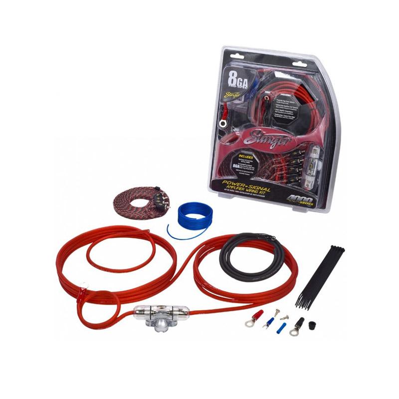Stinger Electronics SK4681 power kabelset caraudio auto voedingskabel versterker kabel accu