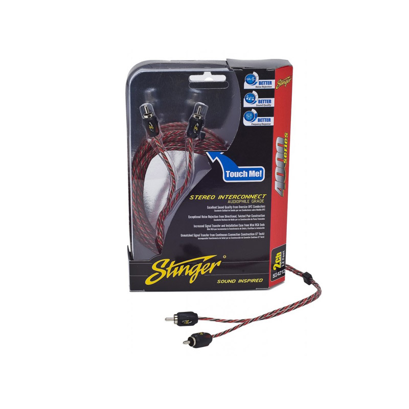 Stinger SI4217 5 meter 2-channel RCA cinch tulp kabel auto audio