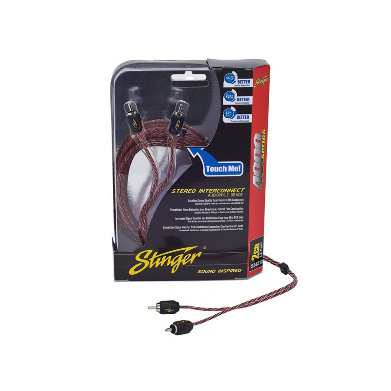 Stinger SI4420 6 meter 4-channel RCA kabel tulp caraudio