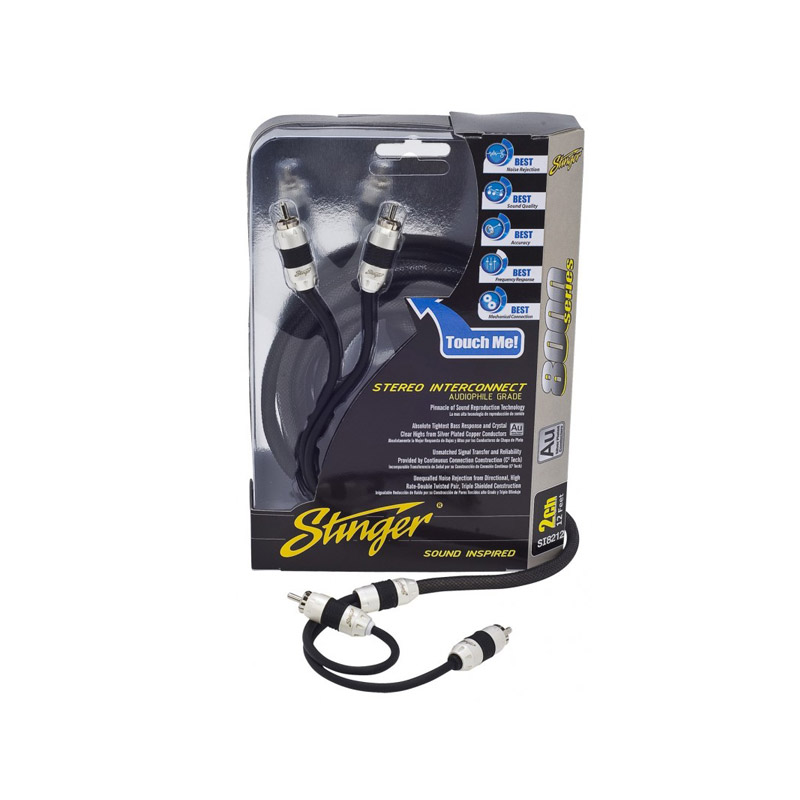 Stinger SI8217 5m 2-channel RCA stereo interconnect tulp cinch kabel audio auto
