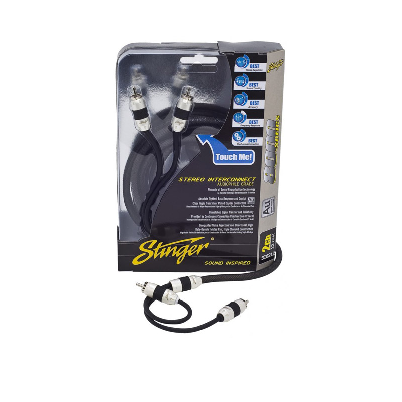 Stinger SI8220 5m 2-channel RCA kabel tulp caraudio stereo installatie